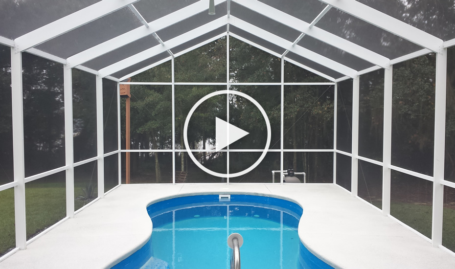 Gable Pool Enclosure Gallery & Pool Enclosures by All Custom Aluminum | 1-850-524-0162 ...